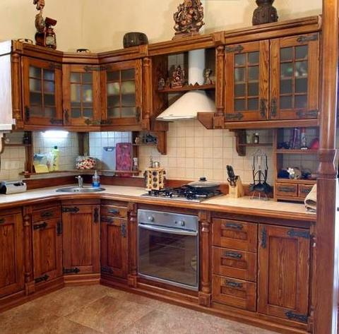 Кухонный гарнитур фото из дерева